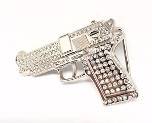Chrome Style Chequerboard Belt Buckle Buckle Only Bling Belt Buckle