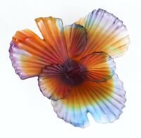 "Daum ""Palmier"" Coupe Pate de Verre Glass by Emilio Robba - Limited Edition"