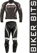 Combinaisons de motocyclette blancs en cuir pour homme