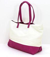 Calvin Klein Magenta Rosa e Panna Borsetta / spiaggia / Tote Bag