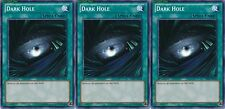 Dark Hole X 3 1st Mint YSKR-EN028 yugioh