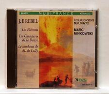 MARC MINKOWSKI - JF REBEL Les Elémens, Le Tombeau de M. de Lully ERATO CD NM