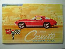 1964 Corvette Owners Guide-Nos First Edition with Full Corvette News Card