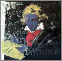 Andy Warhol Beethoven #4 Pop Art Litho Print 18 x 18