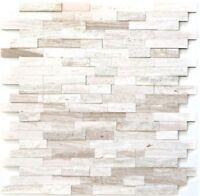 Mosaik Fliese selbstklebend Marmor Naturstein grau weiß |200-0120_f10 Matten