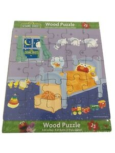 123 Sesame Street Wood Puzzle 8.64 In X 8.64 In • 25pcs • New - Factory Sealed