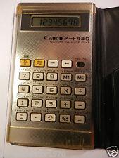 Calculadora Electrónica Raro Retro Canon FC-43 (convertidor de métricas) 1983