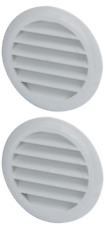 Caravan AIr Vents x 2 Round Boat Marine Cupboard Wall Vents with Anti Bug Screen