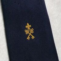 Vintage Tie MENS Necktie Crested Club Association Society CROSSED KEYS CREST