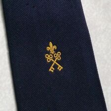 Vintage Tie MENS Necktie Crested Club Association Society CROSSED KEYS CREST