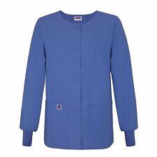Sivvan Women's Scrub Warm-Up Jacket / Front Snaps - Round Neck
