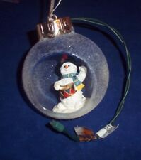 """Large Light Up SnowMan Christmas Ornaments Decorations Very Nice 3 3/4"""" Tall"""