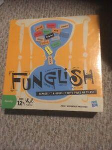 New Funglish Family Board Game NIB Factory Sealed Hasbro Ages 12 & Up Fun Kids