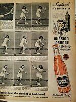1946 Mission orange soda bottle in England it's ginger beer ad