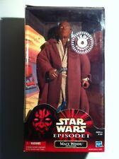 """Star Wars 12"""" Mace Windu NIB Blue Sabre error Jedi"""