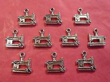 Tibetan Silver Sewing Machine Charms - 10 per pack