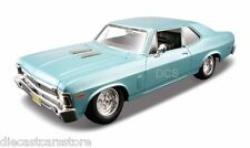 Maisto 1970 Chevy Nova SS Blue 1/24 Diecast Car 31262BL New in Box