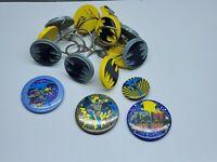 Vintage Batman Pins / Buttons And Shower Curtain Hooks