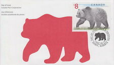 CANADA #1694 $8 GRIZZLY BEAR FIRST DAY COVER