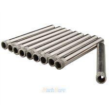 "10pcs 6mm 1/4"" Inch Diamond Coated Core Drill Drills Bit Hole Saw Tile Glass New"