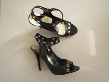 BN Guess Ladies Genuine Leather Black Heels  Size 9M