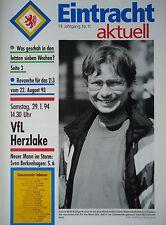 Programm 1993/94 Eintracht Braunschweig - VfL Herzlake