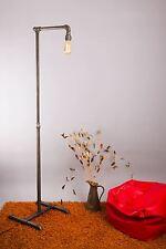 Steampunk Lámpara de pie con tubo de metal de aspecto industrial trajes de diseño casa