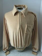 Vintage Beige Velour Paulo Conti Sweatshirt Zip Up Size Xl Made in Canada