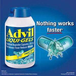 Advil Liqui-Gels Solubilized Ibuprofen Capsules 200mg 120  Liqui-Gels