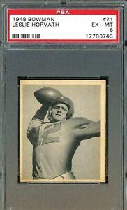 1948 Bowman Football # Les Horvath PSA 6