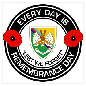 """14 Intel Intelligence Corps """"The Det"""" classic Remembrance day Regimental Sticker"""
