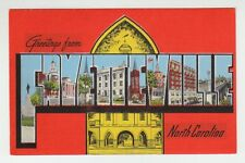 [65171] OLD LARGE LETTER POSTCARD GREETINGS FROM FAYETTEVILLE, NORTH CAROLINA