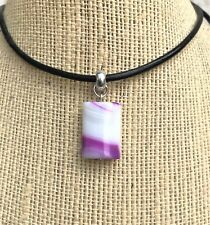 Cute Small Gemstone Banded Agate (Dyed) Pendant Necklace Chakra USA