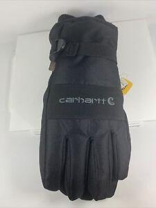Carhartt Men's WP Waterproof Insulated Glove, Black, Small