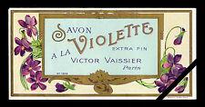 Circa 1900 French Label Soap Perfume Art Nouveau Savon Violette Victor Vaissier