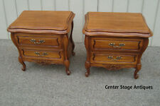 60946 Pair HICKORY Furniture Cherry Nightstnd End Table Stands