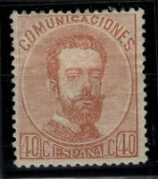 P133249/ SPAIN – KING AMADEO – EDIFIL # 125 MINT MH – CV 110 $