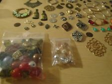 HUGE Lot of Jewelry Making Supplies-Beads Findings Charms Pendants #EE