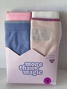 Girls 4 Pack Seamless Bikinis Underwear More Than Magic Size XL 14/16