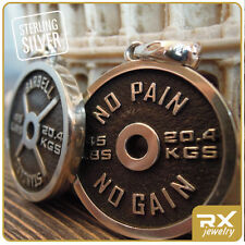 Weight Plate Pendant Bodybuilding Sport Jewelry Excersize Gym Fitness Necklace
