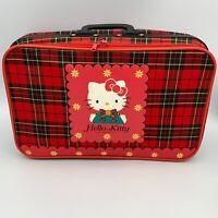 Hello Kitty Luggage Suitcase SANRIO RARE 1989 Vintage RARE HTF Plaid Pattern