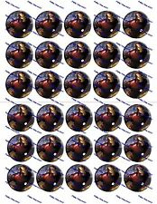 "30 Precut 1"" Ironman Symbol Bottle cap Images Set 1"