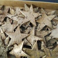 60 Birkensterne 4cm Sterne Dekostern Gold Birke Streuteile Holzsterne Rinde Holz