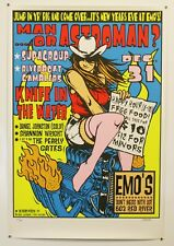 MAN OR ASTROMAN - GIG PRINT #64 *SIGNED* ARTIST JERMAINE ROGERS SEXY COWGIRL ART