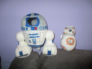 Star Wars-R2D2 & BB8 soft plush toys bulk lot