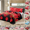3D Duvet Cover 4 Piece Bedding Set with Fitted Sheet & Pillow Case Quilt Covers
