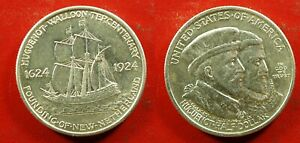 1924 Huguenot-Walloon Commem Half Dollar - Solid AU   stk#k169