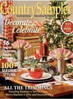 COUNTRY SAMPLER MAGAZINE Nov 2019 Inspiring Homes Decorating Marketplace NEW