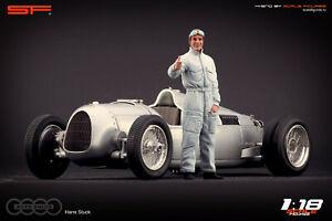 1:18 Hans Stuck figurine by SF VERY RARE !!! NO CARS !! for CMC Auto Union