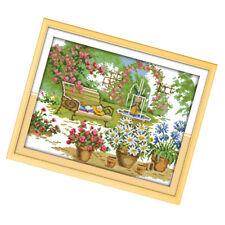 Stickpackungen Kreuzstich Vorgezeichnet Garten Stickbild Sticken Stickbild